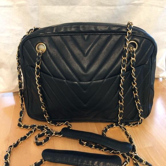 7bd8c7bef306 CHANEL Bags | Vintage Lambskin Chevron Camera Bag | Poshmark